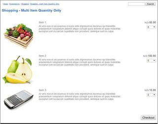 Shopping - Multi Item Quantity Only
