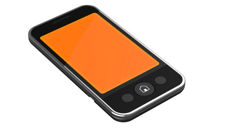 2 Column phone - Orange